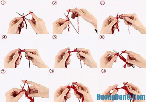 Hướng dẫn cách bước đan khăn ống ba màu