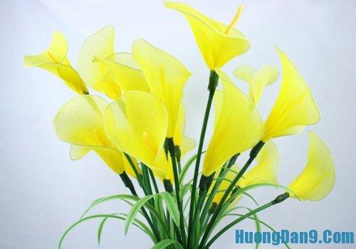 Cách làm hoa loa kèn từ vải voan, hướng dẫn làm hoa loa kèn từ vải voan đẹp