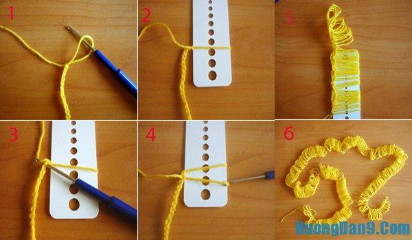 Hướng dẫn móc khăn len nhiều màu độc đáo