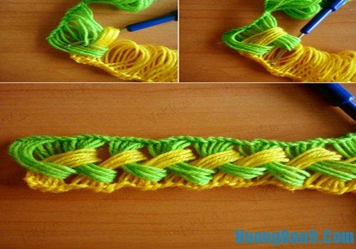 Hướng dẫn móc khăn len nhiều màu độc đáo và đẹp mắt