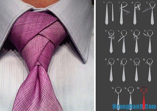 Cách thắt cà vạt theo kiểu hoa Tulip điệu đà