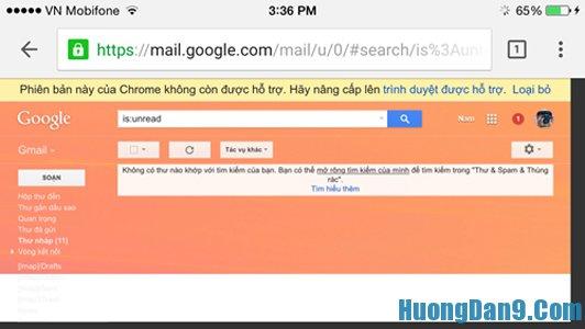Cách xóa thư rác hòm thư đến của gmail