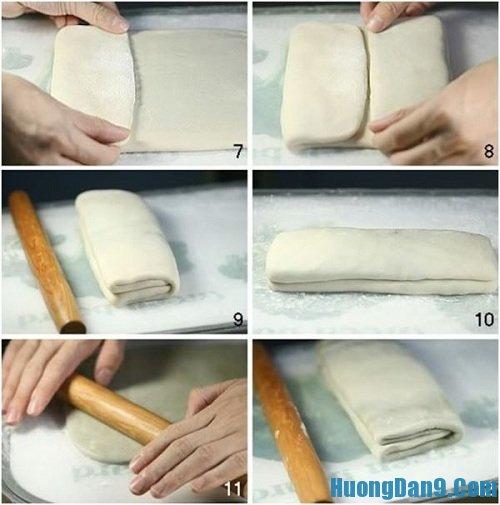 Tiến hành làm bánh Trung thu ngàn lớp kiểu Nhật
