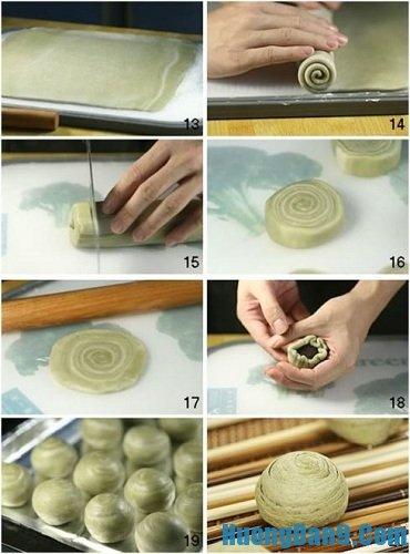 Công thức làm bánh Trung thu ngàn lớp kiểu Nhật đơn giản