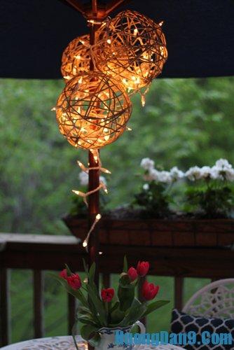 Hướng dẫn làm đèn lồng bằng len thú vị