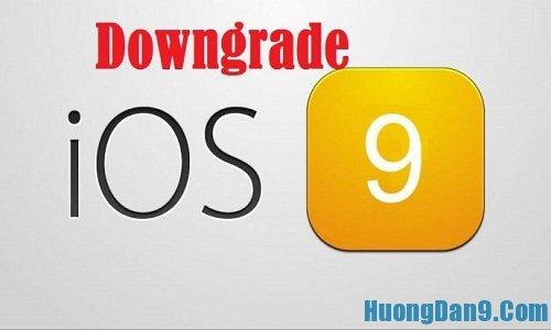 Hướng dẫn cách hạ cấp phiên bản ios 9 xuống ios 8.3 cho iPhone, ipad đơn giản