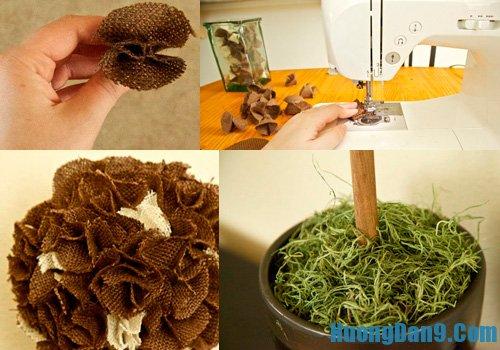 Dạy cách làm hoa cẩm tú cầu vài thô đơn giản