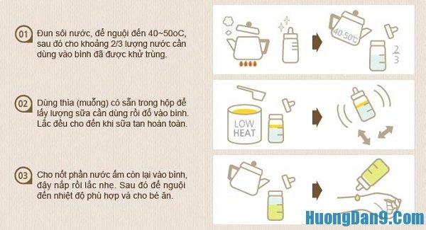 Công thức pha sữa cho bé cực chuẩn