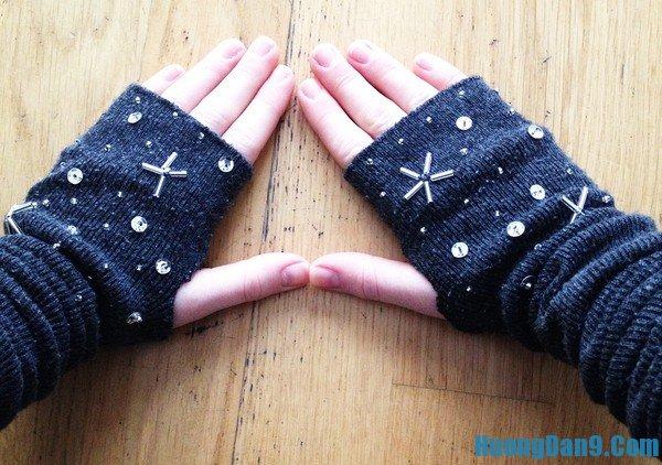 Hướng dẫn cách đan găng tay len hở ngón
