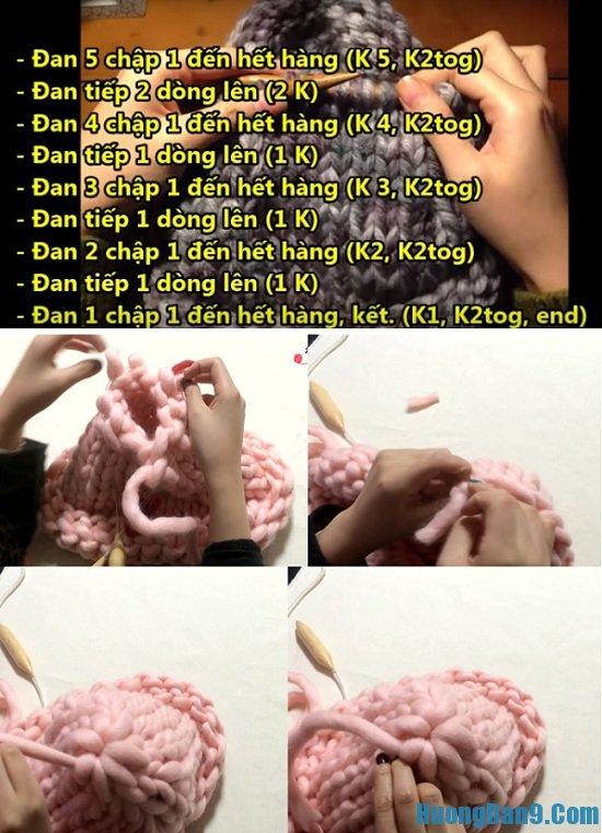 Chi tiết các bước đan mũ len mũ len Helsinki Hàn Quốc tại nhà