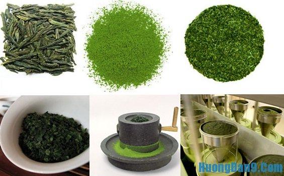 Thực hiện cách làm bột trà xanh