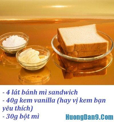 Những nguyên liệu cần chuẩn bị để làm kem chiên phiên bản mới ngon, hấp dẫn tại nhà
