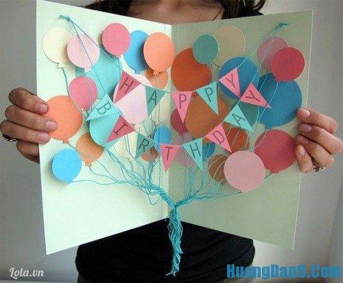 Thực hiện hướng dẫn cách làm thiệp sinh nhật