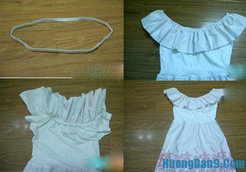 Cách may váy mới từ áo phông cũ