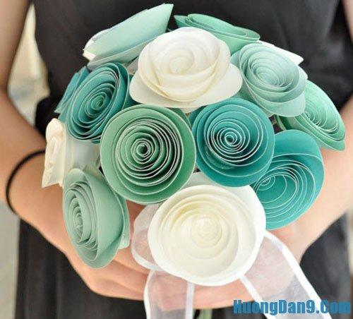 Hướng dẫn làm hoa hồng bằng giấu bìa độc đáo và đẹp