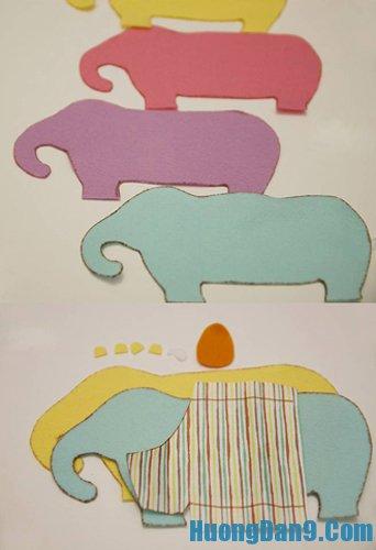 Hướng dẫn chi tiết cách may lót tay hình chú voi đầy đủ
