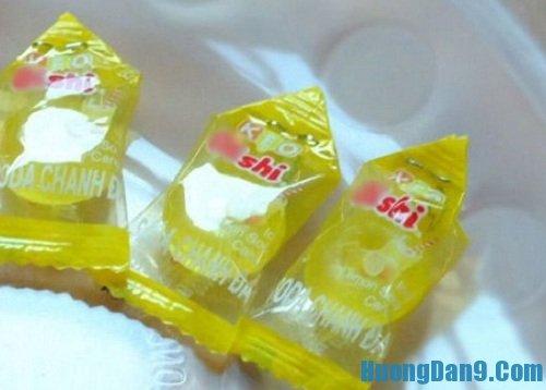 Các bước thực hiện cách làm quả dứa bằng kẹo oishi