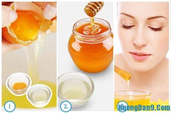 Cách trị nám bằng trứng gà và mật ong