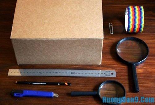 Nguyên liệu chuẩn bị làm máy chiếu cho điện thoại Smartphone
