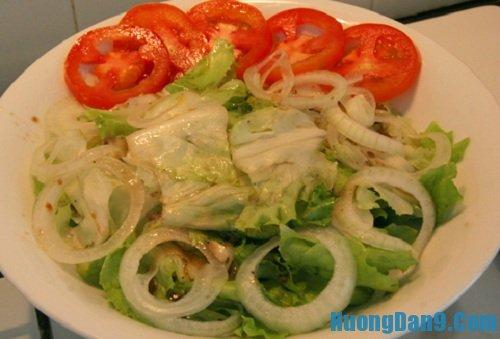 Các bước thực hiện cách làm salad trộn thịt bò