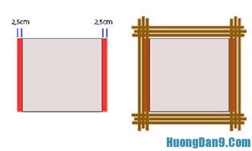 Các bước hướng dẫn cách làm khung ảnh bằng tre