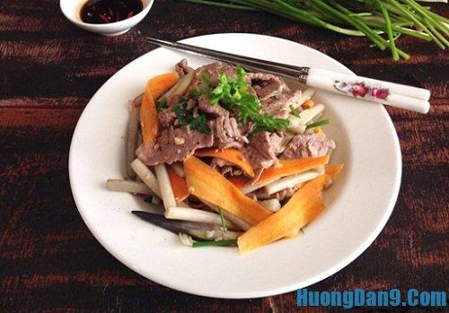 Hướng dẫn cách làm thịt bò xào ngó sen hấp dẫn