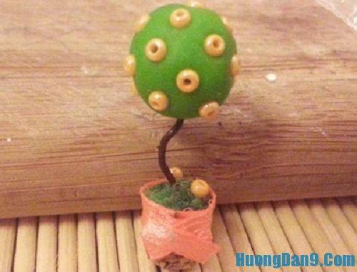 Các bước hướng dẫn chi tiết cách làm chậu cây handmade nhỏ xinh