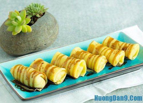 Hướng dẫn cách làm bánh Crepe chuối thơm ngon tại nhà