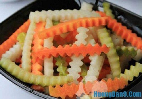 Thành phẩm sau khi thực hiện cách muối su hào cà rốt tại nhà
