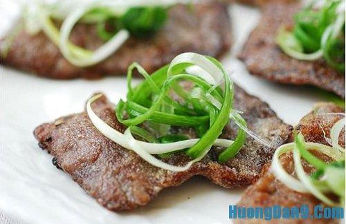 Thành phẩm sau khi thực hiện cách làm thịt bò tẩm bột chiên ngon tuyệt
