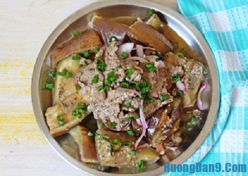 Hướng dẫn cách làm thịt bò xào cà tím ngon tại nhà