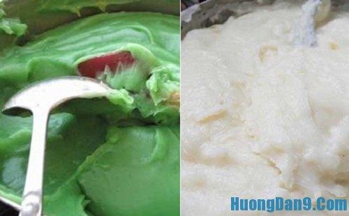 Các bước tiến hành thực hiện cách làm bánh đúc lá dứa