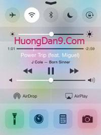 Bảng điều khiển nhanh trên iPhone 6/iOS 8