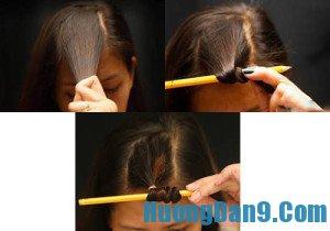 Hướng dẫn làm tóc xoăn bằng bút chì siêu đẹp