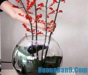 Hướng dẫn cắm hoa đón Tết lung linh