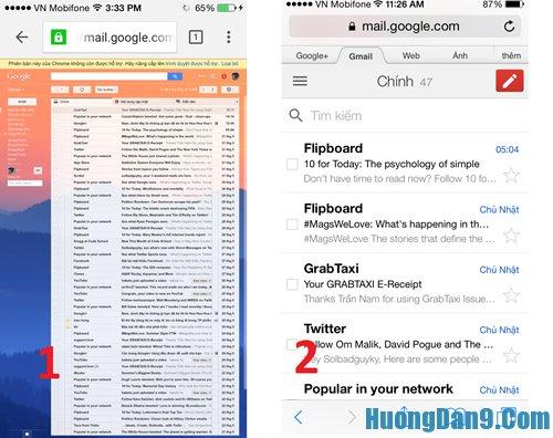 Hướng dẫn làm sạch hộp thư gmail trên smartphone