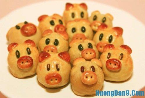 Yêu cầu thưởng thức bánh Trung thu hình heo: