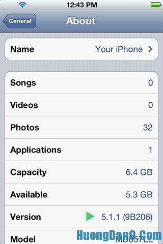 Cách kiểm tra phiên bản iOS