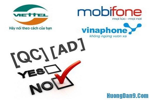 Hướng dẫn cách chặn tin nhắn rác của Viettel, Mobi và Vina