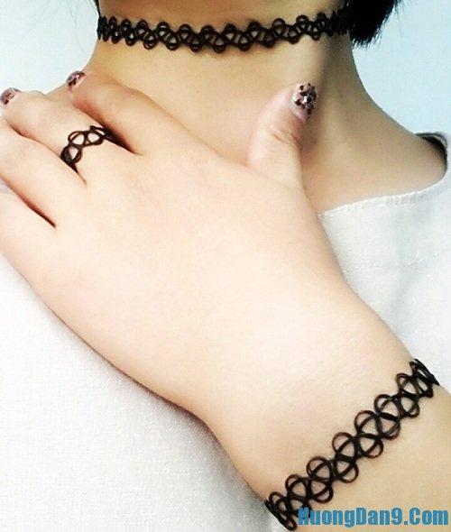 Hướng dẫn cách làm vòng xăm tattoo choker tại nhà