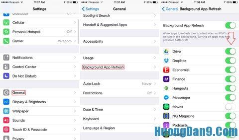 Tắt bớt những ứng dụng ít dùng đến - Cách làm tăng tốc thiết bị chạy iOS nhanh và hiệu quả