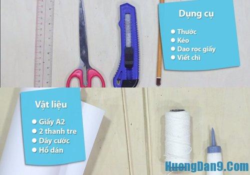Hướng dẫn làm diều giấy cơ bản