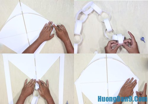 Các bước làm diều giấy nhanh, đơn giản