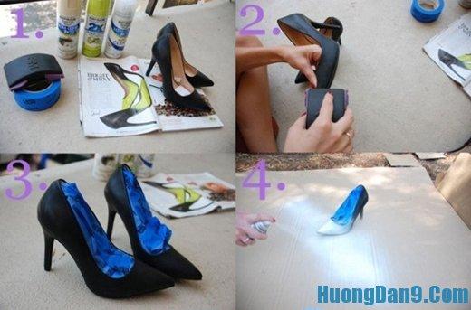 Các bước tiến hành biến giày cũ thành giày mới