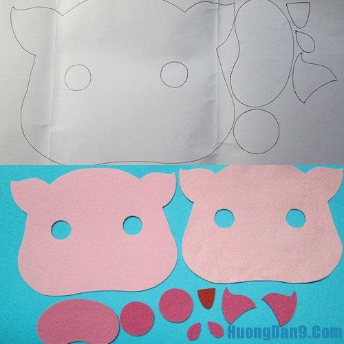 Hướng dẫn làm mặt nạ bằng vải dạ cho bé