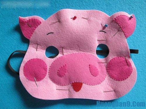 Hướng dẫn làm mặt nạ heo bằng vải dạ cho bé