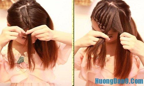 Các bước hướng dẫn chi tiết cách tết tóc mái chéo