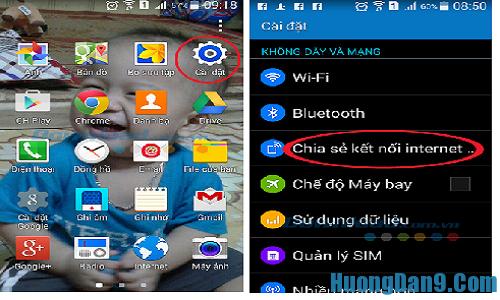 Cách phát wifi cho điện thoại di động sử dụng hệ điều hành android