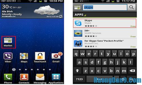 Hướng dẫn tải skype cho điện thoại chạy hệ điều hành android