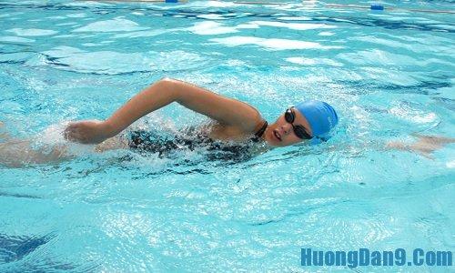 Kỹ thuật quạt tay cho bơi sải cơ bản đúng cách chi tiết